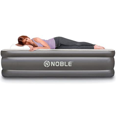 noble comfort double high raised air mattress azfs