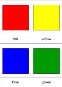 color nomenclature cards chart from montessori for everyone