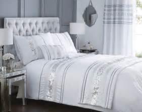 Glitter Bedding Sets Luxury Sequin Glitter Stripe Duvet Quilt Cover Bedding Set Or Curtains Broadway Ebay
