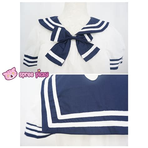 Bow Sailor Collar Sleeve Top kawaii chibi sailor collar bow blouse top free