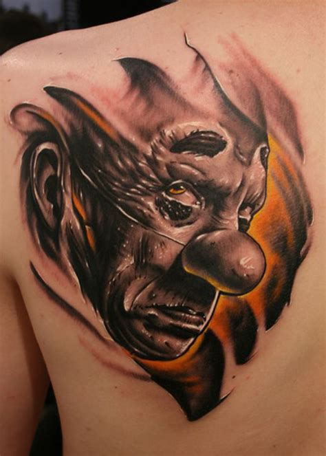 the gallery for gt evil clown tattoos drawings dark sad evil clown tattoo best tattoo ideas gallery