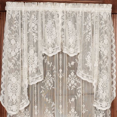lace swag valance curtains fiona scottish lace swag valance window treatment