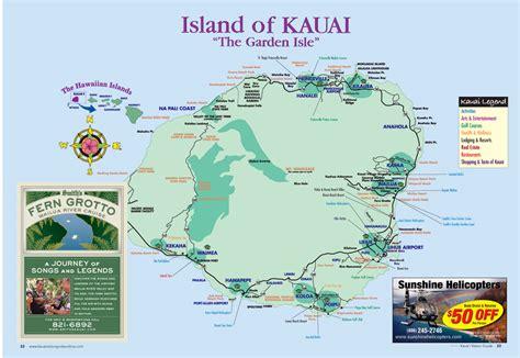 printable map kauai detailed map of kauai hawaii