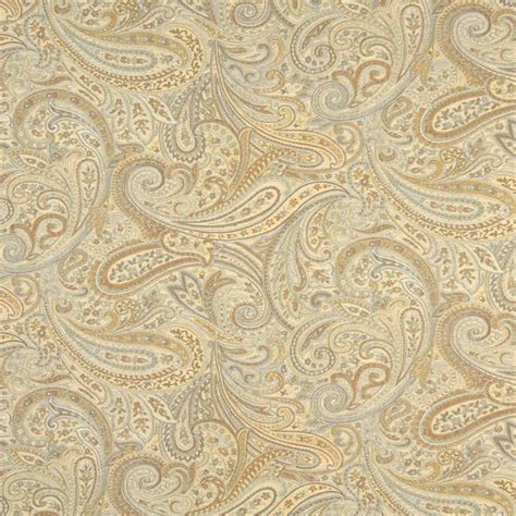 Upholstery Fabric by Gold Blue And Bronze Paisley Upholstery Grade