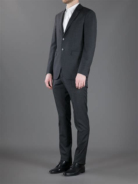 Valentino Suit valentino two suit in gray for lyst