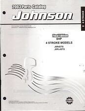 2003 Johnson Outboard Motor 8 Hp 4 Stroke Parts Manual New