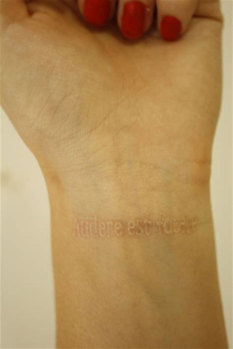 white ink tattoo on wrist index of images 84