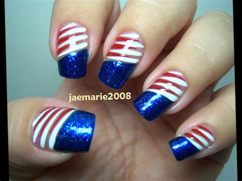 red acrylic 4th of july nils 4th of july nail designs ideas youtube