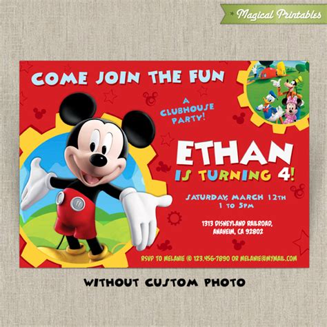 mickey mouse clubhouse invitation template free disney mickey mouse clubhouse customizable printable