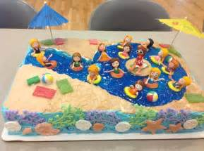 Pool Cake Decorations Swimming Pool Cake Birthday Cakes Pinterest Swimming