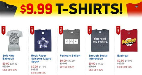Sites Like Thinkgeek by Like Thinkgeek Thinkgeek 9 99 T Shirts Tee Reviewer