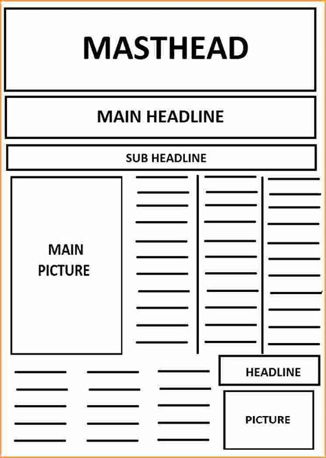 9 Front Page Newspaper Article Template Invoice Template Download Front Page Template