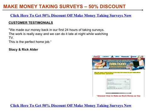 Make Money Taking Surveys - make money taking surveys discount