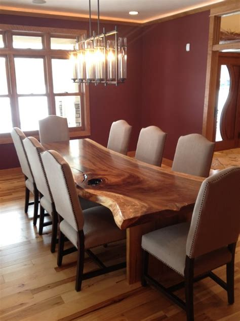 Live Edge Dining Room Table Live Edge Dining Table Modern Dining Room Other By Woodland Creek Furniture