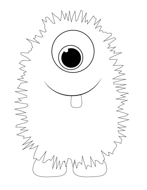 Template Monstre by Coloring Template 187 Coloring Pages