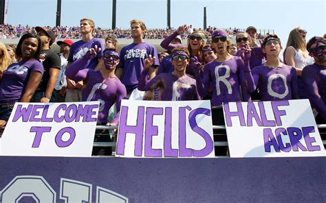 best college student sections tcu student sections in college football espn