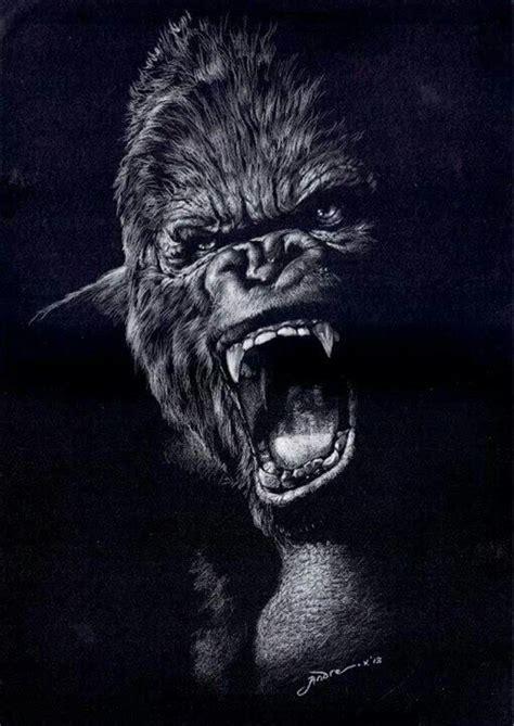 andreanus gunawan indonesia gorilla tattoo monkey art