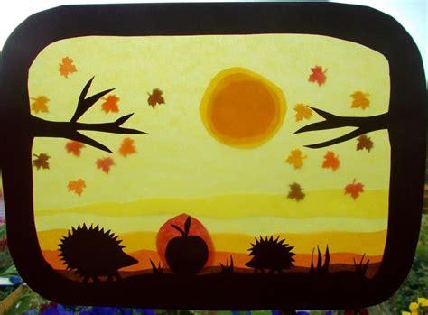 kinderzimmer deko waldorf kinderzimmerdekoration waldorf transparentbild herbst