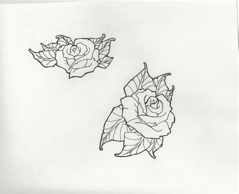 tattoo rose outline portfolio flash updates