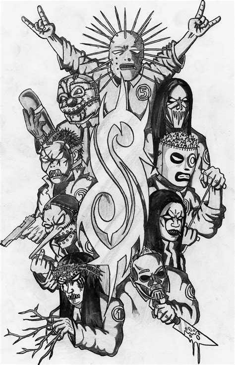 8 images of slipknot coloring pages slipknot mask