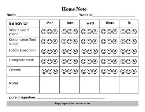house of note a home note program to support positive student behavior and outcomes happy faces be simple