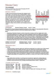 chartered accountant cv template accounting records