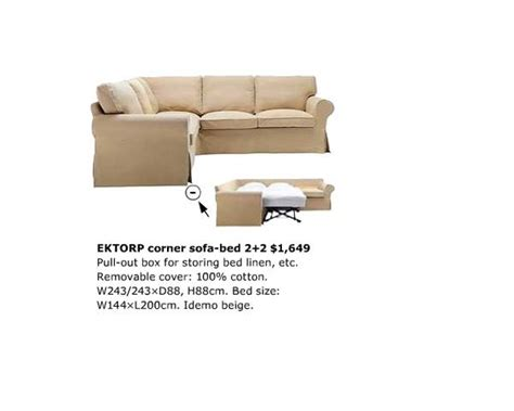 Ektorp Corner Sofa Bed Ikea Ektorp Corner Sofa Bed Plus New Unopened Covers In Beige Ebay