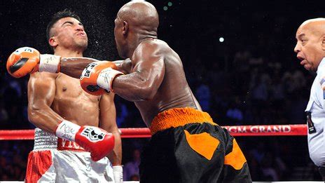 bbc sport floyd mayweather knocks out victor ortiz in