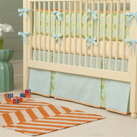Contemporary Crib Bedding Crib Skirt Contemporary Baby Bedding Atlanta By Carousel Designs