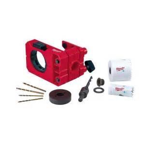 lock kit home depot milwaukee door lock installation kit 49 22 4073 the home