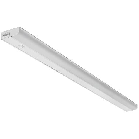 lithonia cabinet lighting lithonia lighting ucel 48 in led white linkable cabinet light ucel 48in 30k 90cri swr wh
