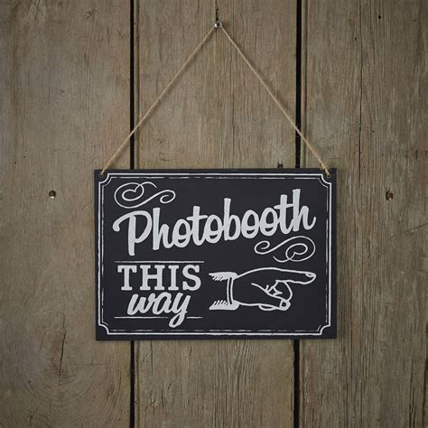 vintage style chalkboard photo booth sign by ginger ray