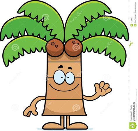 cartoon palm tree waving stock vector image 47754207