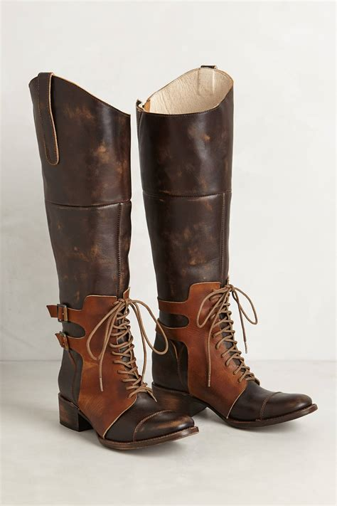 free bird boots lyst freebird by steven thoroughbred boots in brown