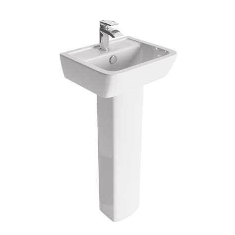 Cloakroom Basin With Pedestal easy bathrooms alfrick cloakroom basin pedestal
