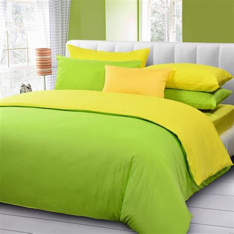 Solid Yellow Comforter by Turquoise And Yellow Solid Duvet Cover Bedding Mercerized