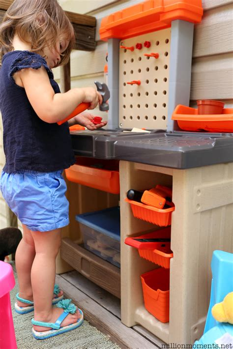 work bench for kids space saving diy kids workshop