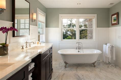 Modern craftsman traditional bathroom san diego by hill construction company