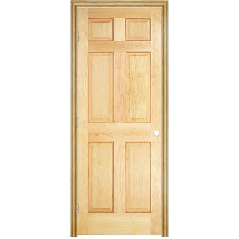 30 X 78 Prehung Interior Door Shop Reliabilt 6 Panel Solid No Skin Pine Right Interior Single Prehung Door Common
