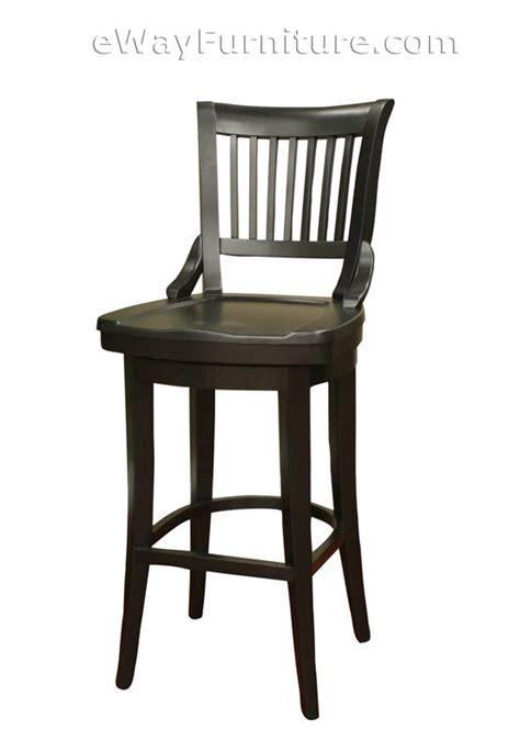 2 rich onyx 34 quot extra tall wood swivel bar stools