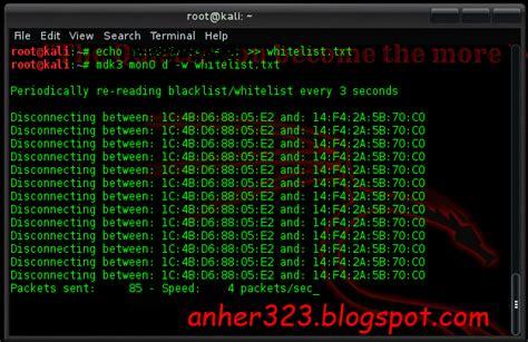 tutorial mdk3 di kali linux memutus koneksi orang lain dengan mdk3 di kali linux