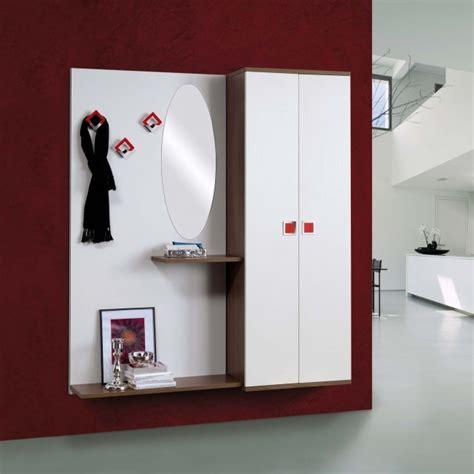 mobili a muro ingresso a muro con scarpiera e specchiera arredo casa fvg