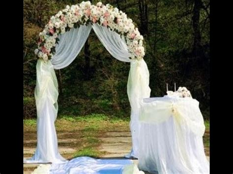 how to build a wedding arch step by step ideas youtube