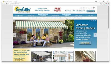 sunnc awnings website sunsetter reviews