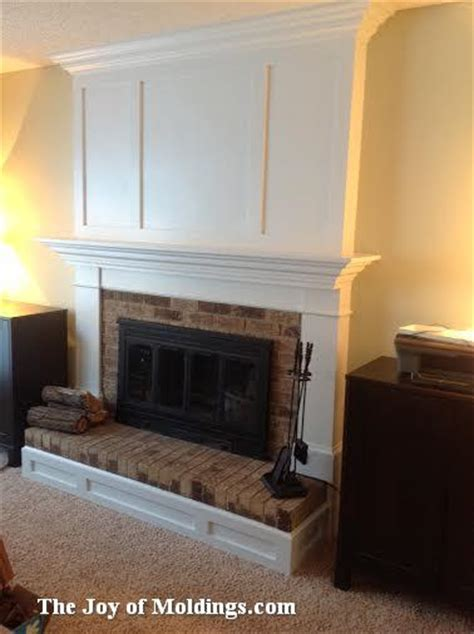 Raised Panel Wainscoting Diy Aaron S Fireplace Mantel Installed Over Brick The Joy Of