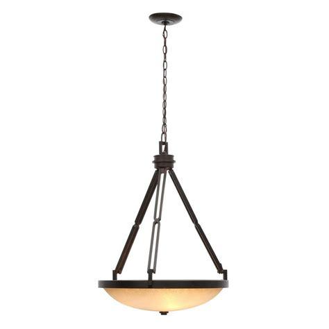 bowl pendant lighting hton bay alta loma 3 light ridge bronze bowl