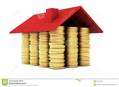 house made of gold house made of gold coins royalty free stock photos image