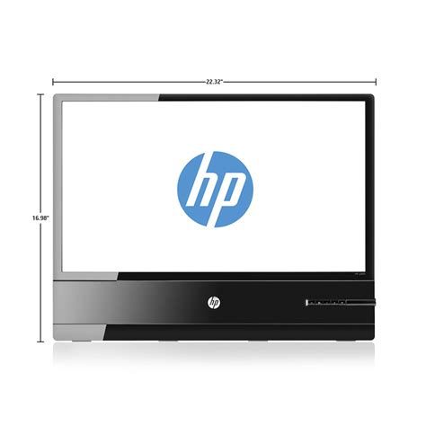 Led Hp hp x2401 24 inch led backlit monitor front view