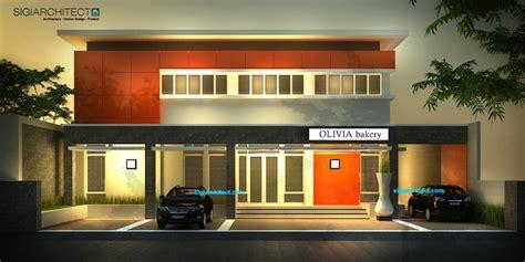 desain eksterior kantor desain kantor modern minimalis pabrik roti bakery