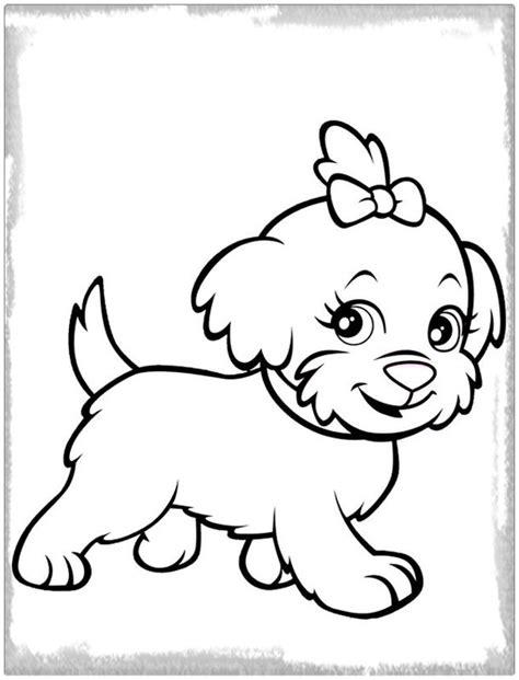 imagenes bonitas para colorear de perritos dibujo para colorear de un perro hermoso imagenes de